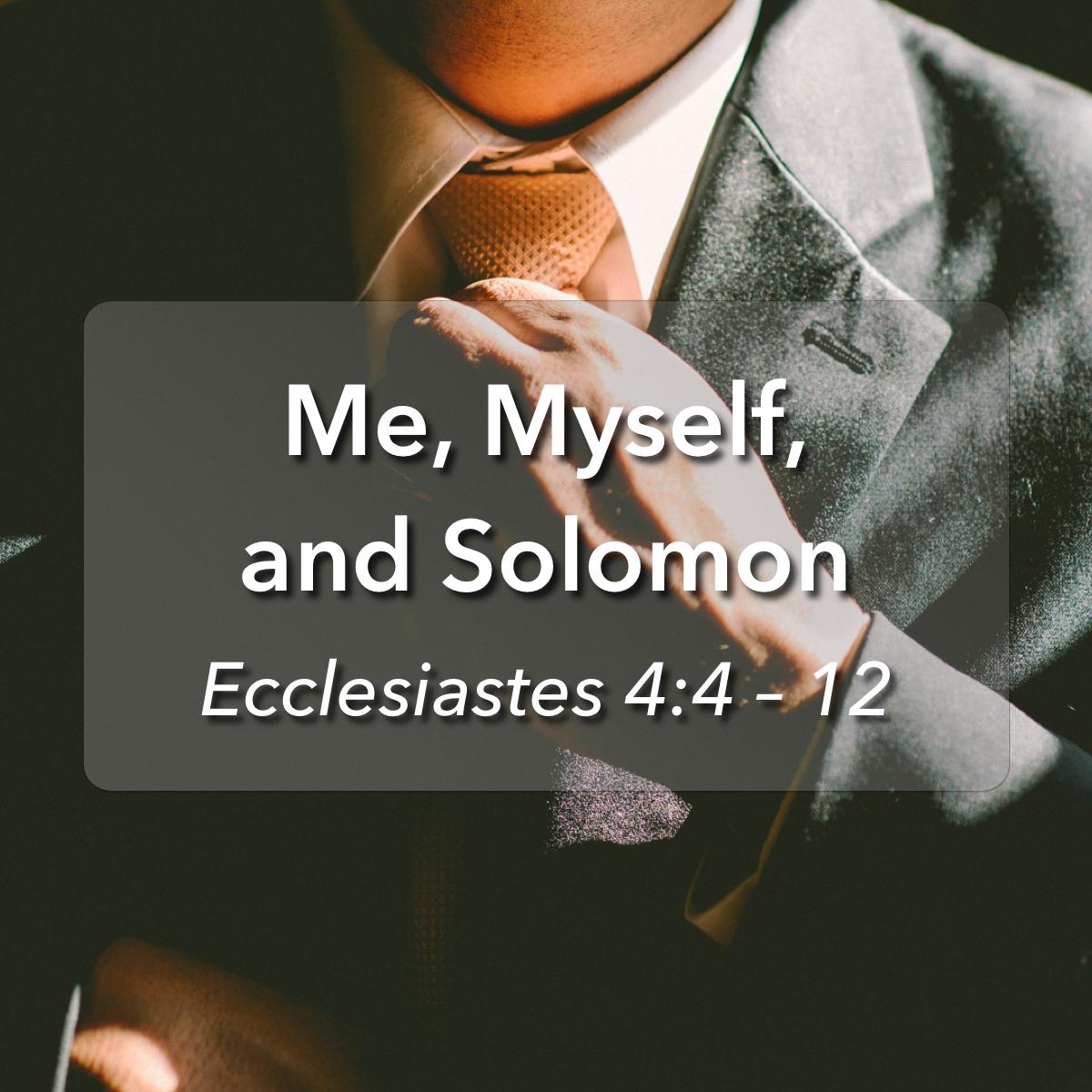 Glencairn Baptist Church – Sermons Tag – Ecclesiastes