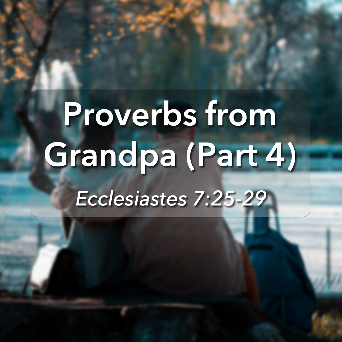 Glencairn Baptist Church – Sermons Categories – Ecclesiastes